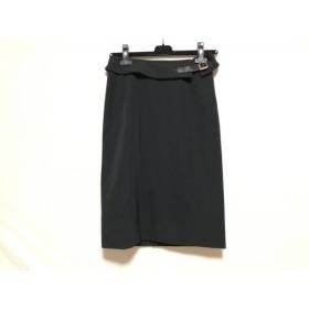 【中古】 バーバリーロンドン Burberry LONDON スカート サイズ38 L レディース 美品 黒