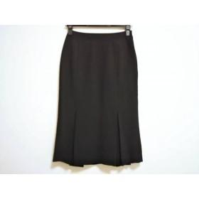 【中古】 ニジュウサンク 23区 ロングスカート サイズ36 S レディース 黒 プリーツ