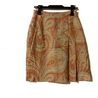 【中古】 トゥモローランド TOMORROWLAND スカート サイズ40 M レディース ベージュ レッド マルチ