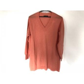 【中古】 ニジュウサンク 23区 長袖セーター サイズ40 M レディース オレンジ ロング丈
