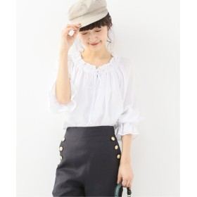 Spick and Span 【SECULAR】 RUFFLE NECK TIE BLOUSE ホワイト フリー