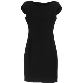 《セール開催中》POIS レディース ミニワンピース&ドレス ブラック 44 ポリエステル 92% / ポリウレタン 8%