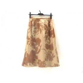 【中古】 ノーブランド スカート サイズ9 M レディース ライトブラウン ブラウン