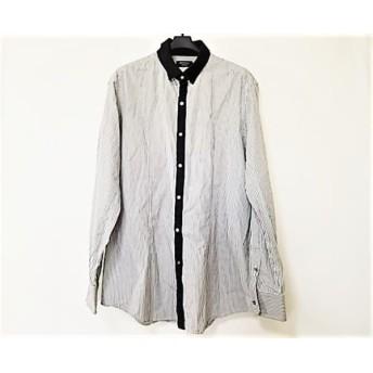 【中古】 エポカ EPOCA 長袖シャツ サイズ50 メンズ 黒 白 ストライプ