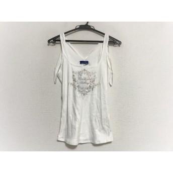 【中古】 バーバリーブルーレーベル キャミソール サイズ38 M レディース 美品 白 グレー ラメ