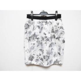 【中古】 ジャスグリッティー スカート サイズ2 M レディース ライトグレー ダークグレー 黒 花柄