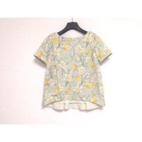 【中古】 グレースコンチネンタル GRACE CONTINENTAL 半袖カットソー サイズ36 S レディース 美品 花柄