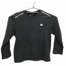 【中古】 バーバリーロンドン 長袖Tシャツ サイズ110A ユニセックス 黒 ベージュ マルチ