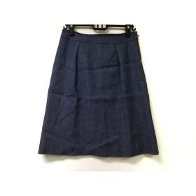 【中古】 アマカ AMACA スカート サイズ40 M レディース 美品 ダークグレー ラメ