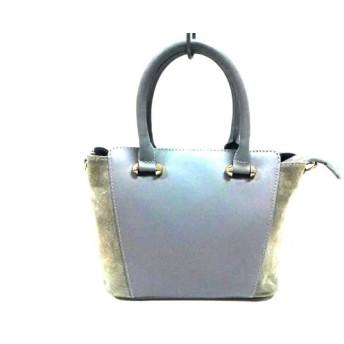 【中古】 マルコビアンキーニ MARCO BIANCHINI ハンドバッグ 美品 グレー レザー スエード