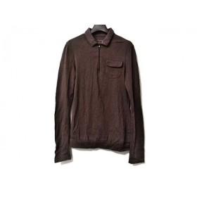 【中古】 ルヴェルソーノアール Le verseaunoir 長袖ポロシャツ サイズ40 M レディース ダークブラウン