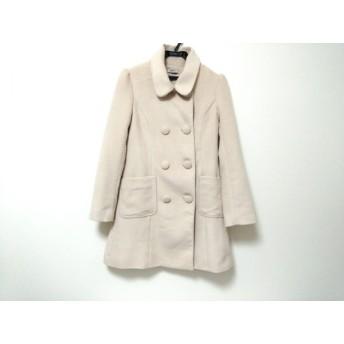 【中古】 ティティアンドコー titty & co コート レディース 美品 アイボリー 冬物