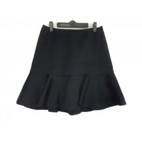 【中古】 ニジュウサンク 23区 スカート サイズ40 M レディース ダークネイビー フリル
