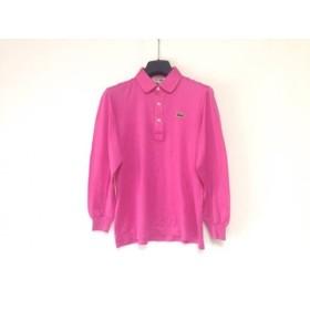 【中古】 ラコステ Lacoste 長袖ポロシャツ レディース ピンク