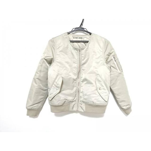 【中古】 ニコアンド ダウンジャケット サイズ3 L レディース ライトグレー 冬物/ジップアップ