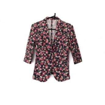 【中古】 リエンダ rienda ジャケット サイズS レディース グレー マルチ 花柄