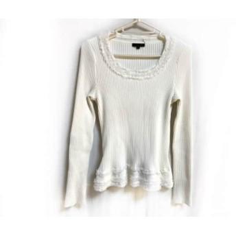 【中古】 トゥービーシック TO BE CHIC 長袖セーター サイズ2 M レディース 美品 アイボリー フリル