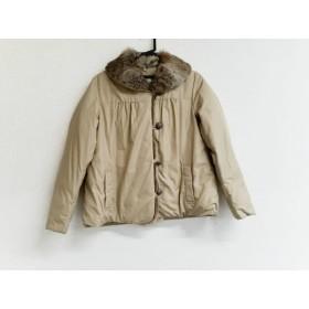 【中古】 アリスバーリー Aylesbury ダウンジャケット サイズ11 M レディース ライトブラウン ファー/冬物