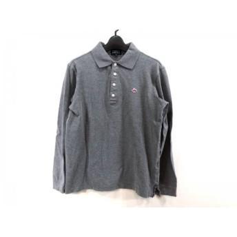 【中古】 パーリーゲイツ PEARLY GATES 長袖ポロシャツ サイズ4 XL メンズ ダークグレー マルチ