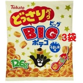 東ハト どっさりパック ポテコ うましお味 ( 126g3袋セット )