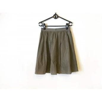 【中古】 ビアズリー BEARDSLEY スカート サイズ1 S レディース カーキ
