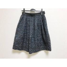 【中古】 ダブルスタンダードクロージング スカート サイズ36 S レディース 黒 ブルー マルチ