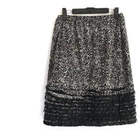 【中古】 ダブリュービー wb スカート サイズ38 M レディース 白 黒 REVITION