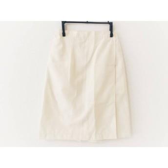 【中古】 パーリーゲイツ PEARLY GATES スカート サイズS レディース アイボリー シースルー