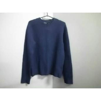 【中古】 ポロラルフローレン POLObyRalphLauren 長袖セーター サイズXS メンズ ダークネイビー ニット