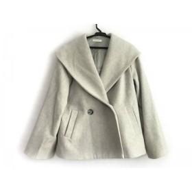 【中古】 ラウンジドレス Loungedress コート サイズF レディース アイボリー ライトグレー フード/冬物