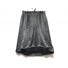 【中古】 ジャスグリッティー JUSGLITTY スカート サイズ2 M レディース ダークグレー プリーツ