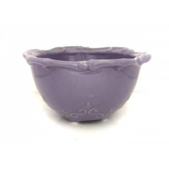 【中古】 アナスイ ANNA SUI 小物入れ 美品 パープル フラワー 陶器