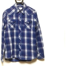 【中古】 ディーゼル DIESEL 長袖シャツ サイズ16 メンズ ブルー 白 レッド チェック柄