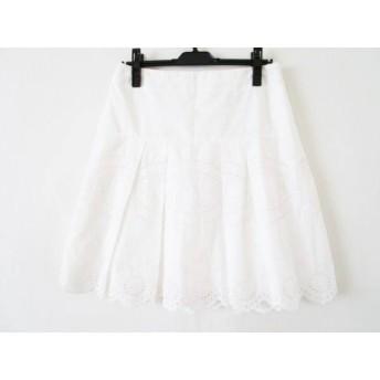【中古】 ジユウク 自由区/jiyuku スカート サイズ40 M レディース 白 刺繍