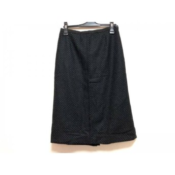 【中古】 エトロ ETRO ロングスカート サイズ42 M レディース 黒 ドット柄