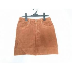 【中古】 パタゴニア Patagonia スカート サイズ4 XL レディース ブラウン コーデュロイ