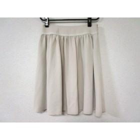 【中古】 ブルーレーベルクレストブリッジ スカート サイズ38 M レディース 美品 ベージュ