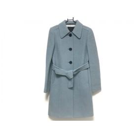 【中古】 アンタイトル UNTITLED コート サイズ2 M レディース 美品 ライトブルー 冬物