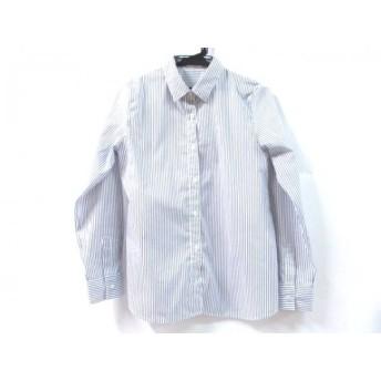 【中古】 ノーブランド 長袖シャツ サイズM メンズ ホワイト ネイビー
