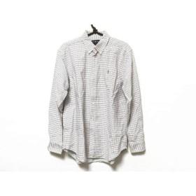 【中古】 ラルフローレン RalphLauren 長袖シャツ サイズ18 メンズ 白 ブルー チェック柄
