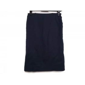 【中古】 ドゥーズィエム DEUXIEME CLASSE スカート サイズ38 M レディース ネイビー