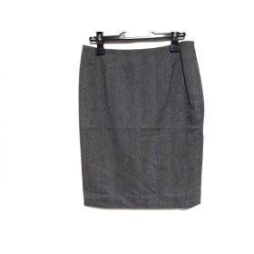 【中古】 アクリス AKRIS スカート サイズ6 M レディース グレー