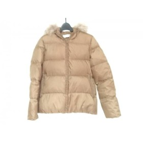 【中古】 ユナイテッドアローズ ダウンジャケット サイズ40 M レディース ライトブラウン 冬物