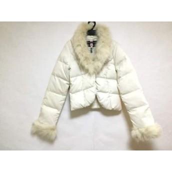 【中古】 クレイサス CLATHAS ダウンジャケット サイズ38 M レディース アイボリー 冬物