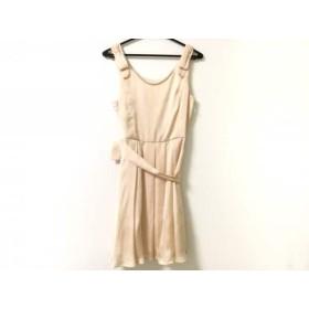 【中古】 レッセパッセ LAISSE PASSE ドレス サイズ36 S レディース 新品同様 ベージュ リボン