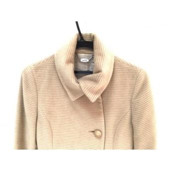 【中古】 ロペ ROPE コート サイズ7 S レディース ライトブラウン 冬物