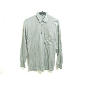 【中古】 ダンヒル dunhill/ALFREDDUNHILL 長袖ポロシャツ サイズS メンズ グリーン ストライプ