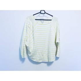 【中古】 ビアズリー BEARDSLEY 長袖Tシャツ サイズサイズ:F レディース アイボリー イエロー ボーダー