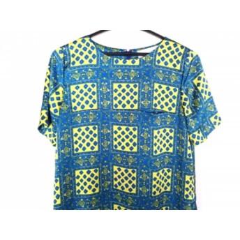 【中古】 ルシェルブルー LE CIEL BLEU ワンピース サイズ40 M レディース 美品 ブルー イエロー マルチ