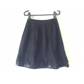 【中古】 トゥービーシック TO BE CHIC スカート サイズ40 M レディース 黒 スパンコール